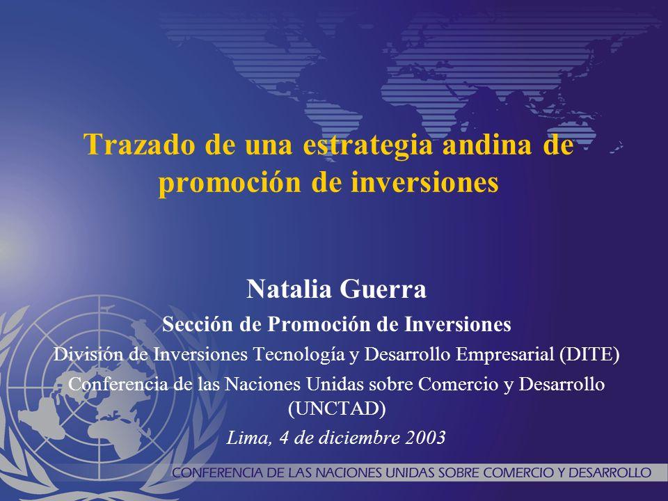 Trazado de una estrategia andina de promoción de inversiones