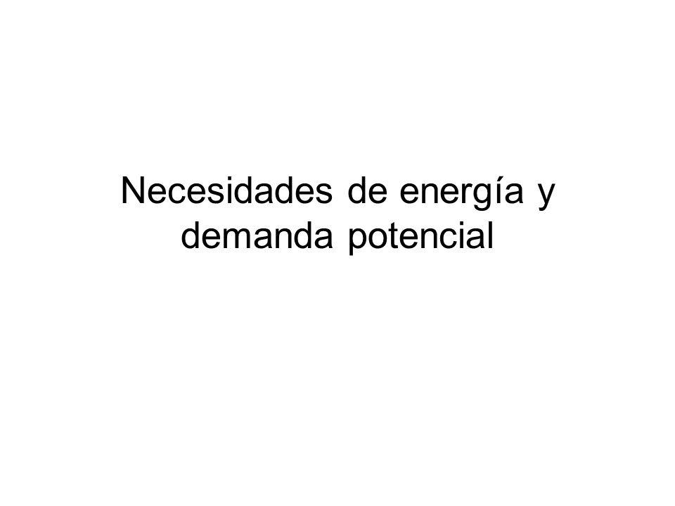 Necesidades de energía y demanda potencial