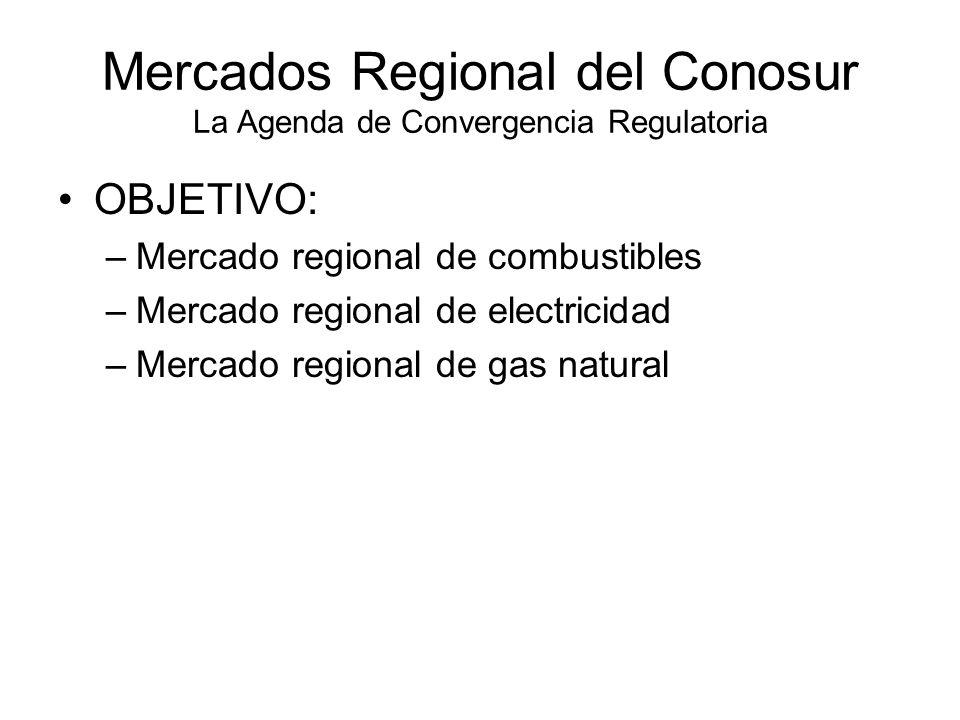Mercados Regional del Conosur La Agenda de Convergencia Regulatoria
