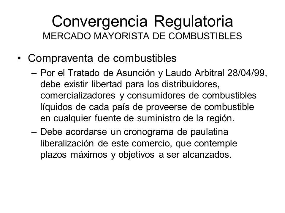 Convergencia Regulatoria MERCADO MAYORISTA DE COMBUSTIBLES