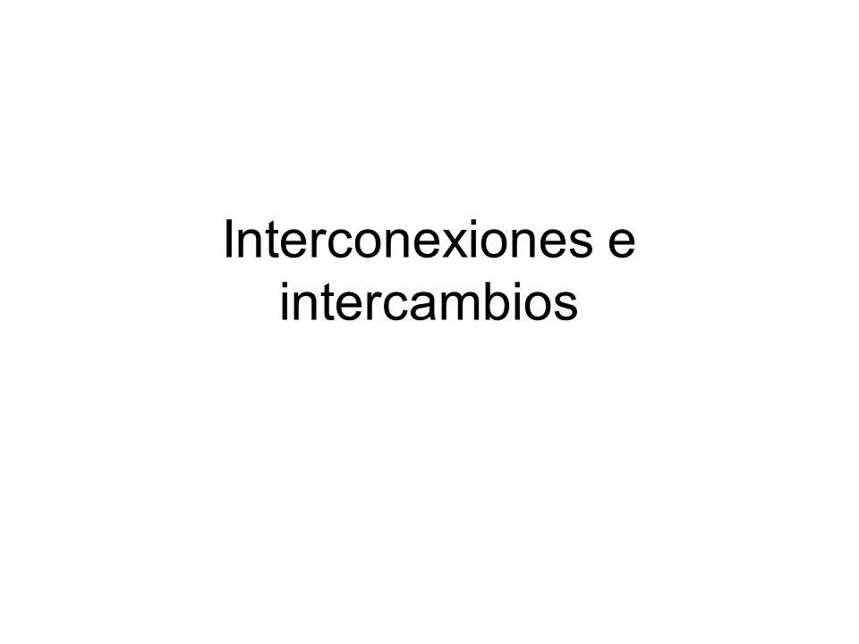 Interconexiones e intercambios