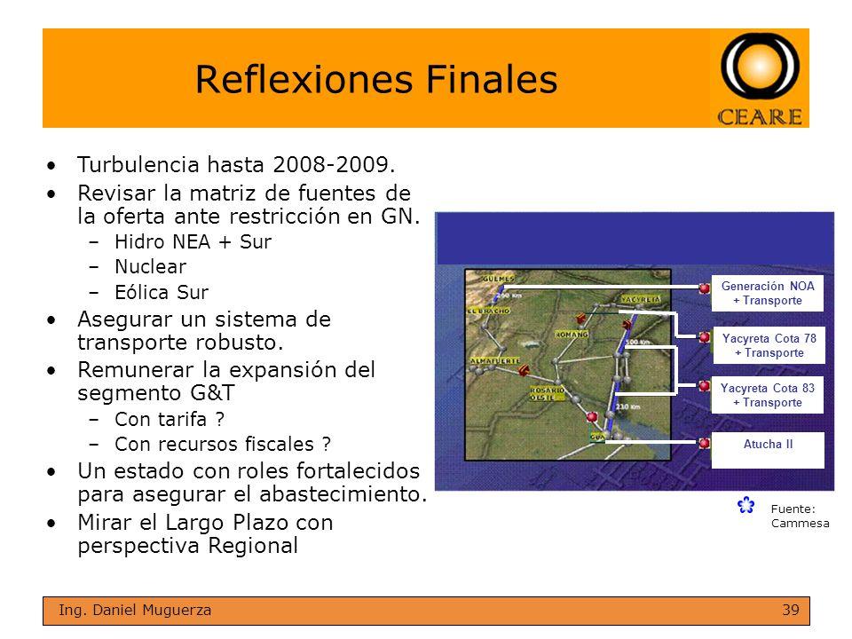Reflexiones Finales Turbulencia hasta 2008-2009.