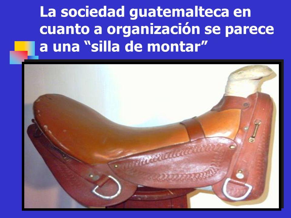La sociedad guatemalteca en cuanto a organización se parece a una silla de montar
