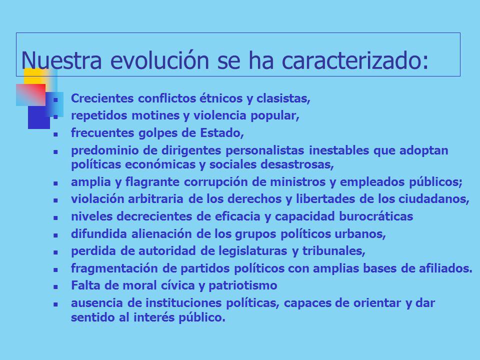 Nuestra evolución se ha caracterizado: