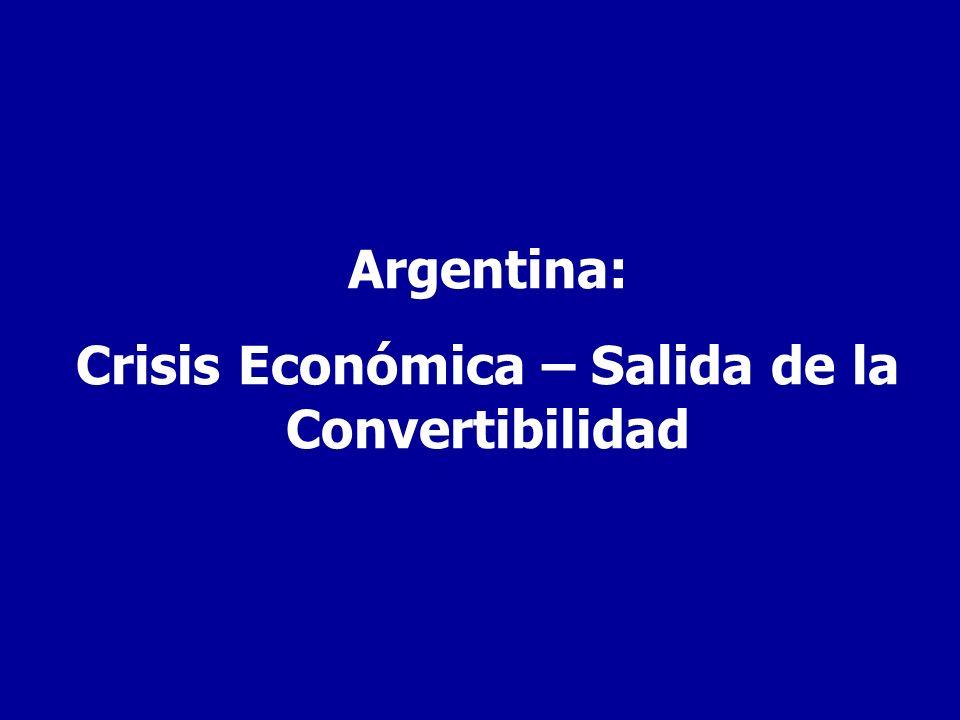 Crisis Económica – Salida de la Convertibilidad
