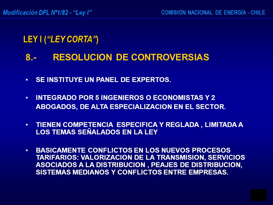 8.- RESOLUCION DE CONTROVERSIAS
