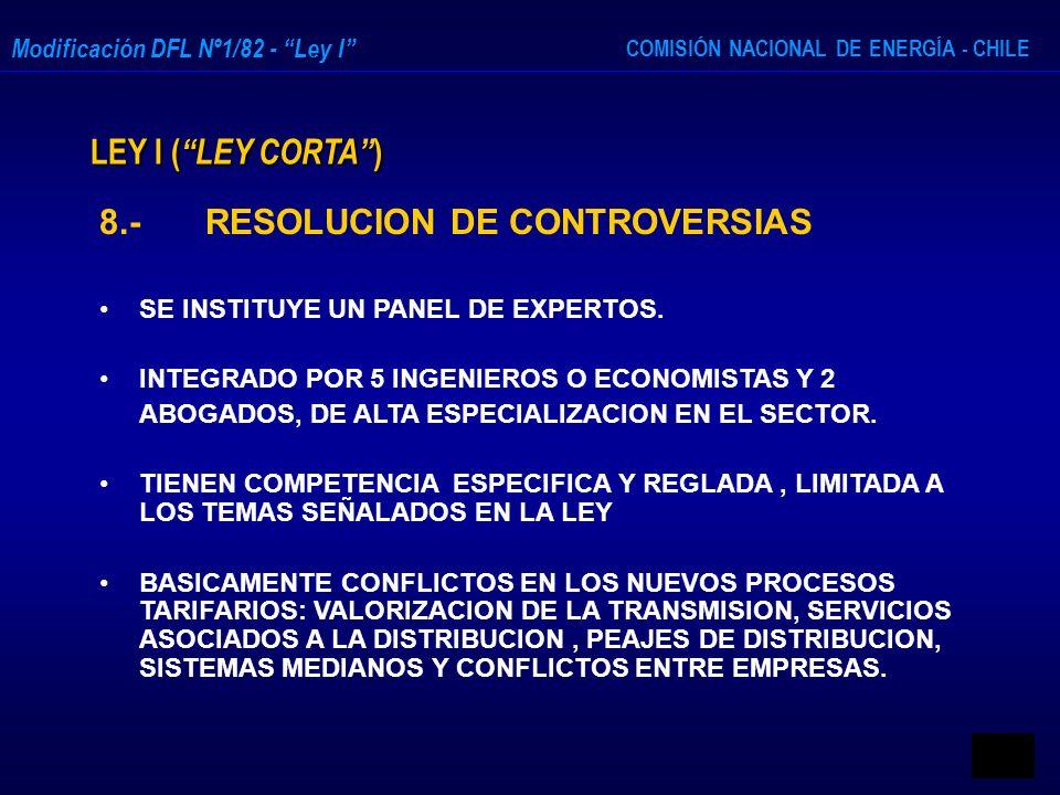 8.- RESOLUCION DE CONTROVERSIAS