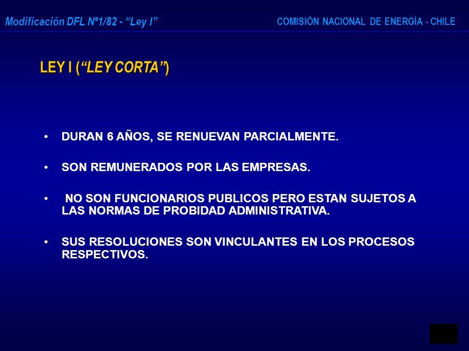 LEY I ( LEY CORTA ) DURAN 6 AÑOS, SE RENUEVAN PARCIALMENTE.
