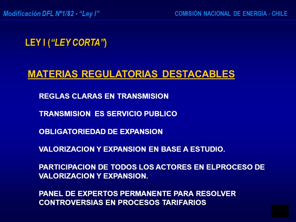 MATERIAS REGULATORIAS DESTACABLES
