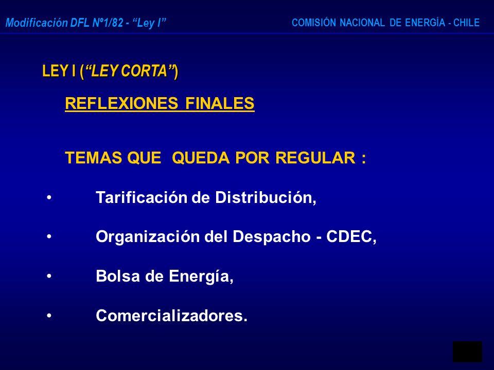 Tarificación de Distribución, Organización del Despacho - CDEC,