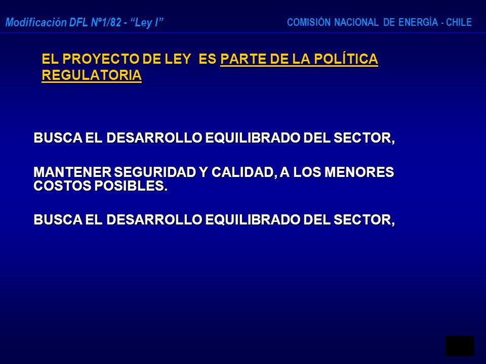 EL PROYECTO DE LEY ES PARTE DE LA POLÍTICA REGULATORIA