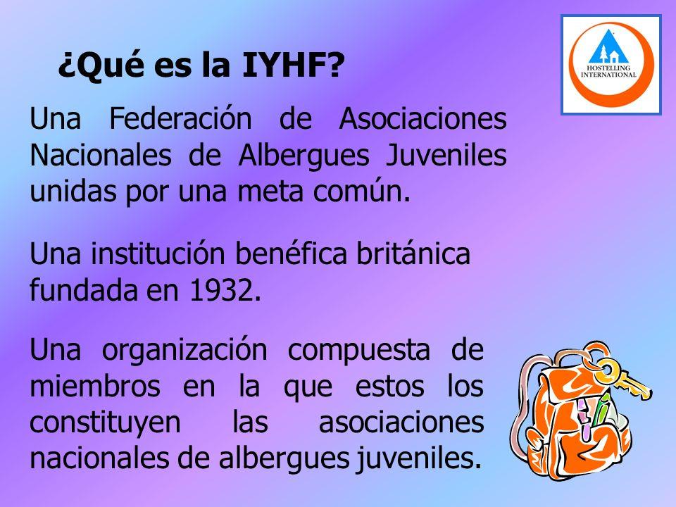 ¿Qué es la IYHF Una Federación de Asociaciones Nacionales de Albergues Juveniles unidas por una meta común.