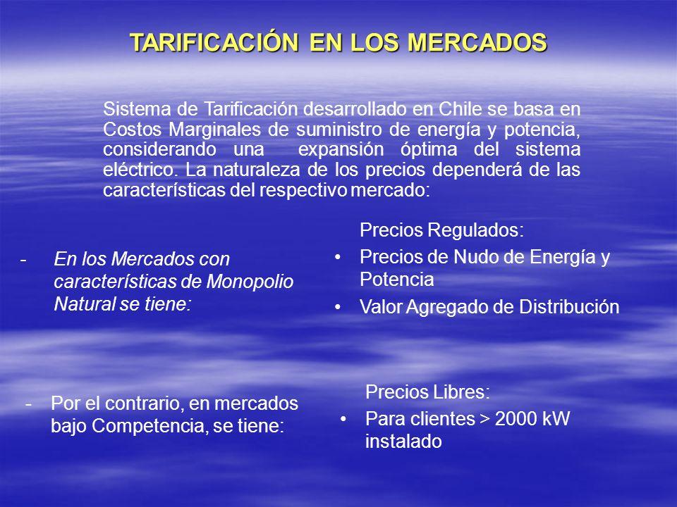 TARIFICACIÓN EN LOS MERCADOS