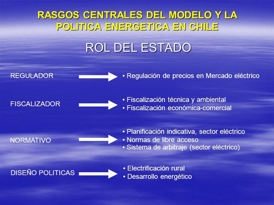 RASGOS CENTRALES DEL MODELO Y LA POLITICA ENERGETICA EN CHILE