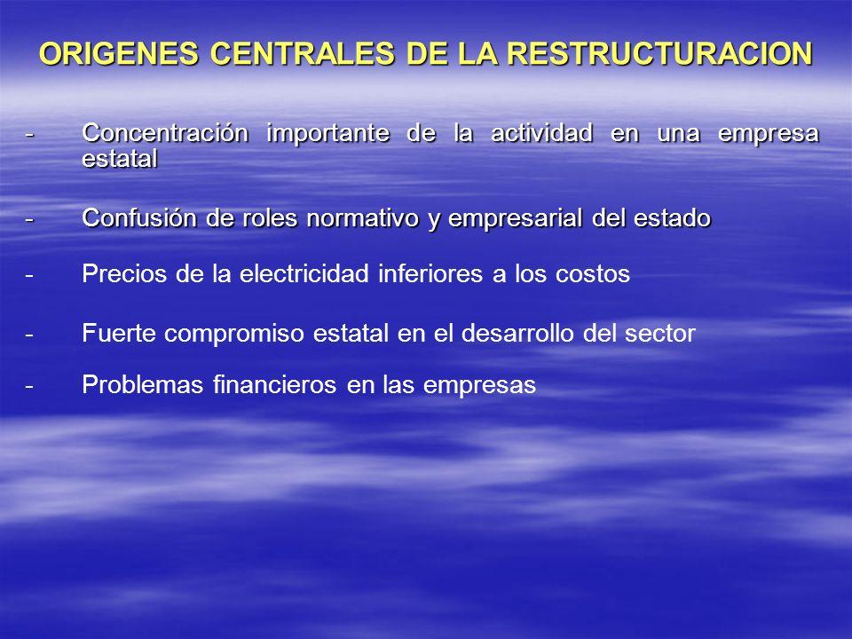 ORIGENES CENTRALES DE LA RESTRUCTURACION
