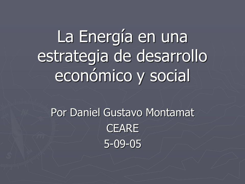 La Energía en una estrategia de desarrollo económico y social