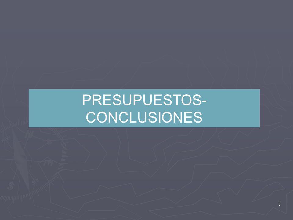 PRESUPUESTOS-CONCLUSIONES