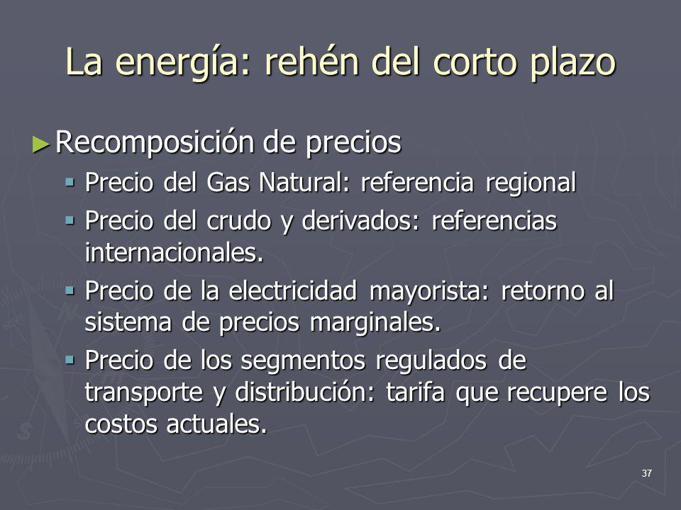 La energía: rehén del corto plazo
