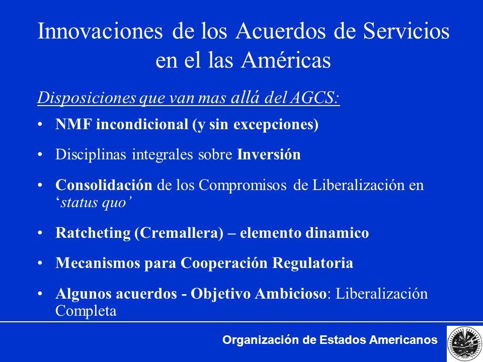 Innovaciones de los Acuerdos de Servicios en el las Américas