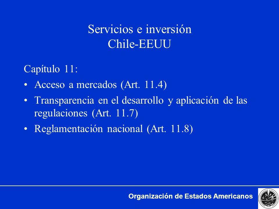 Servicios e inversión Chile-EEUU
