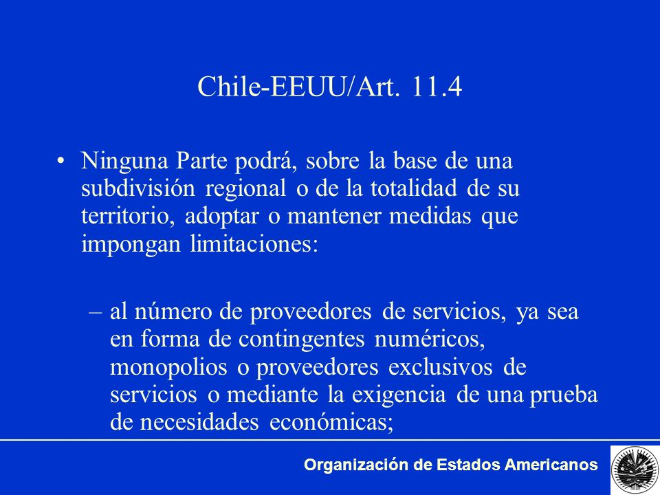 Chile-EEUU/Art. 11.4
