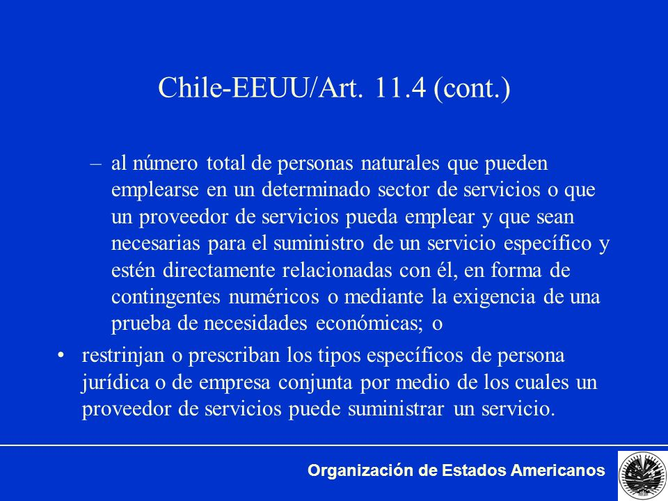 Chile-EEUU/Art (cont.)