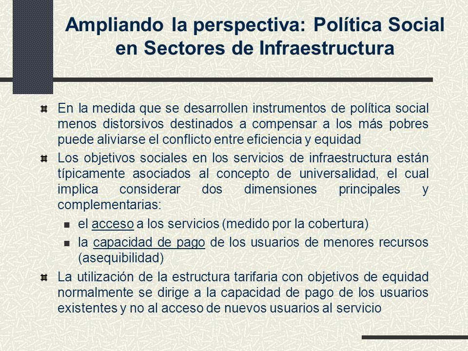 Ampliando la perspectiva: Política Social en Sectores de Infraestructura
