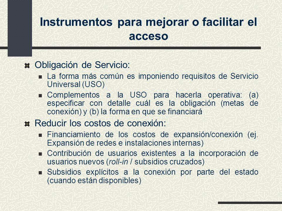 Instrumentos para mejorar o facilitar el acceso