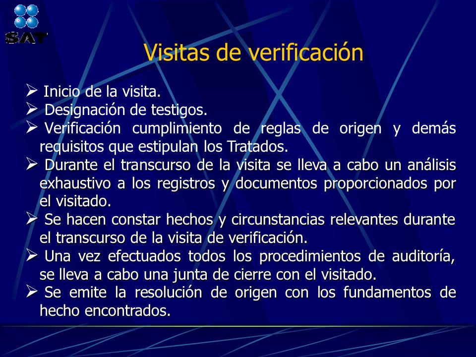 Visitas de verificación