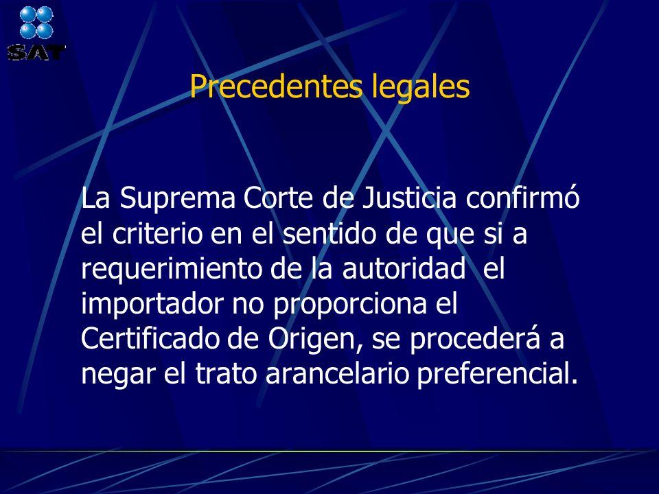 Precedentes legales