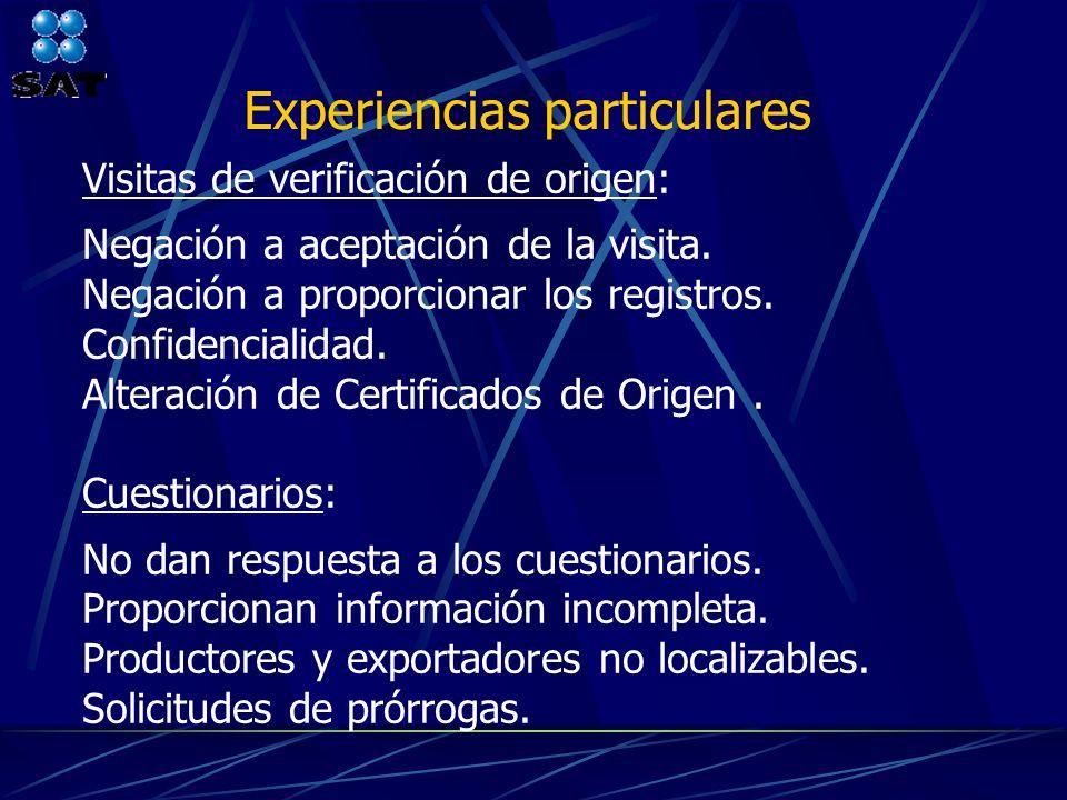 Experiencias particulares