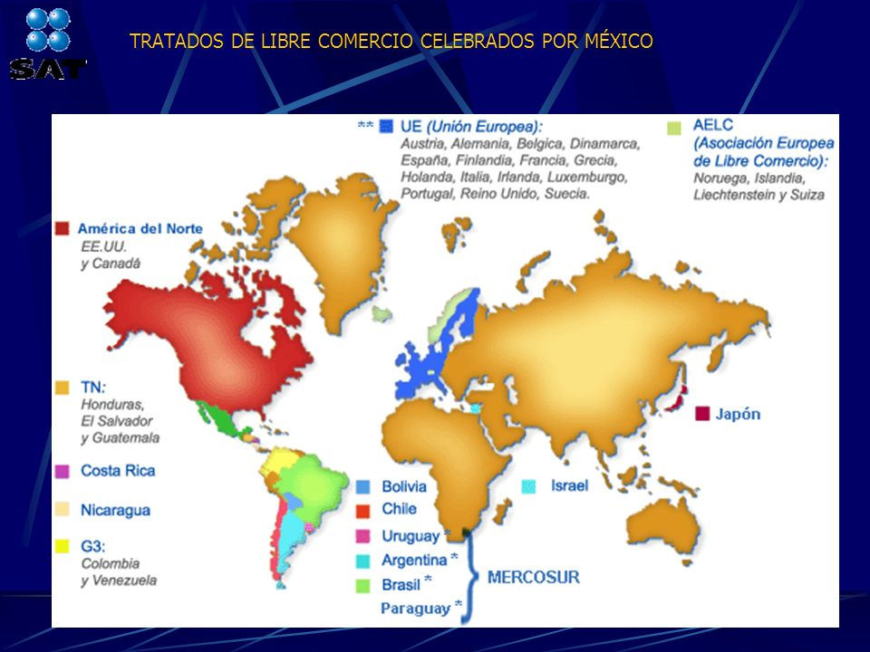 TRATADOS DE LIBRE COMERCIO CELEBRADOS POR MÉXICO
