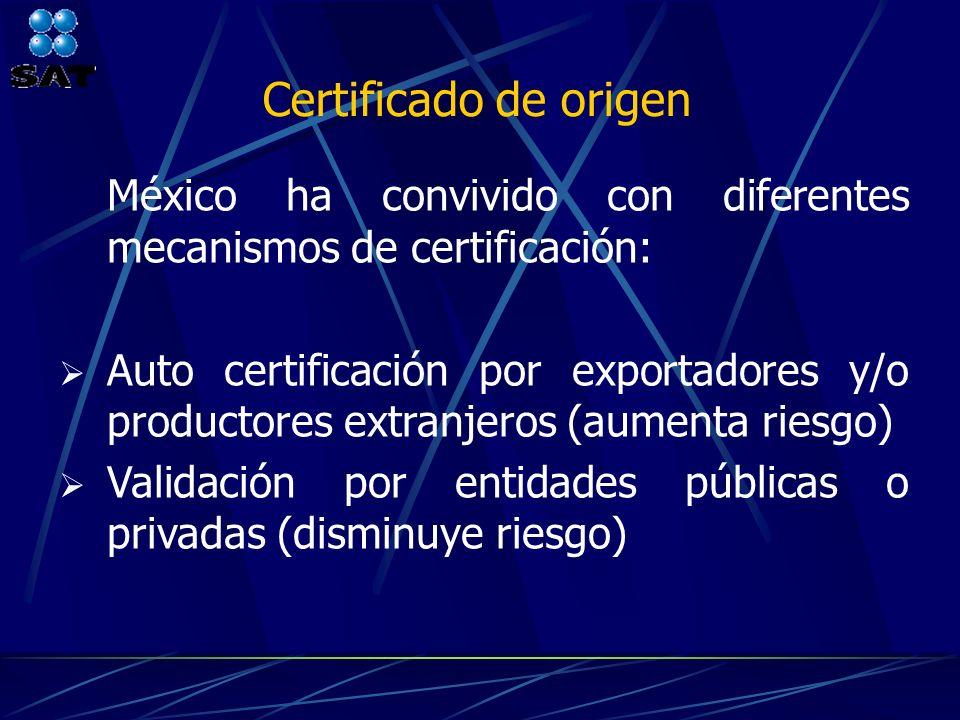 Certificado de origen México ha convivido con diferentes mecanismos de certificación: