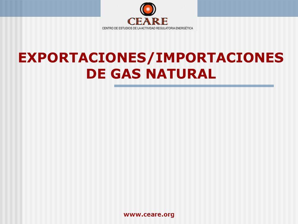 EXPORTACIONES/IMPORTACIONES DE GAS NATURAL