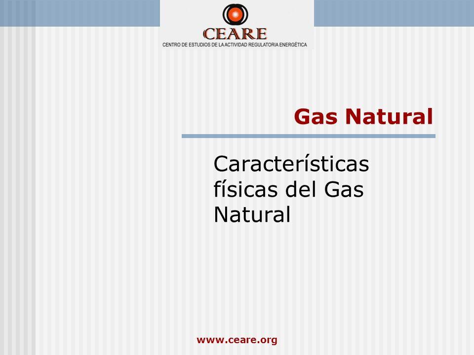 Características físicas del Gas Natural