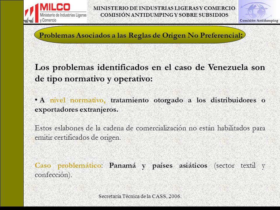Secretaría Técnica de la CASS, 2006.