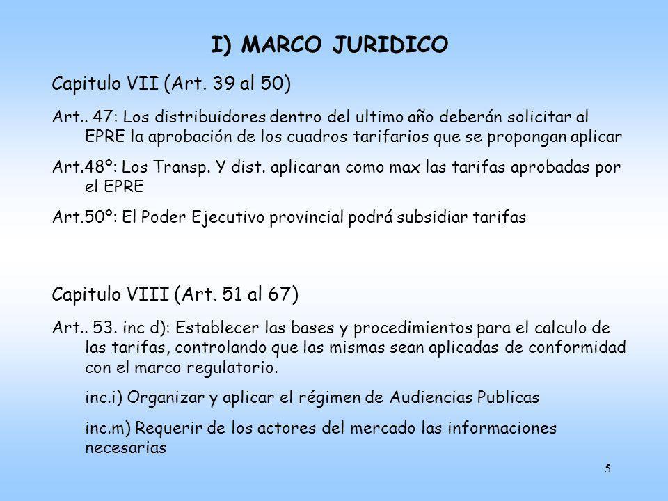 I) MARCO JURIDICO Capitulo VII (Art. 39 al 50)