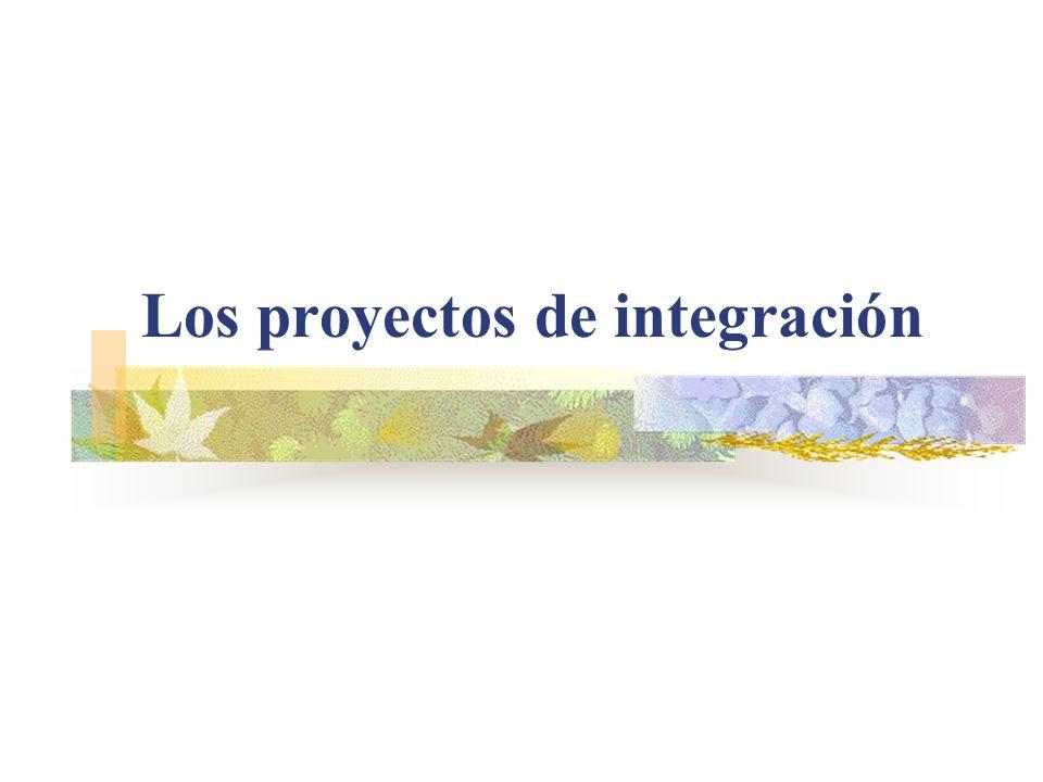 Los proyectos de integración