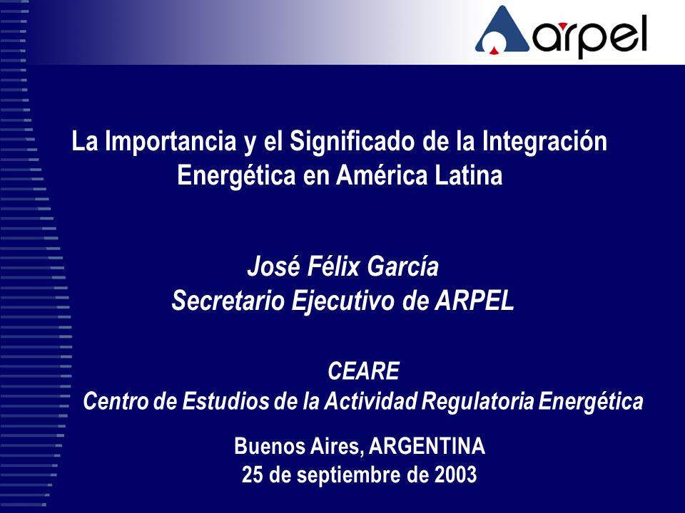 José Félix García Secretario Ejecutivo de ARPEL