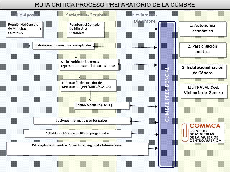RUTA CRITICA PROCESO PREPARATORIO DE LA CUMBRE