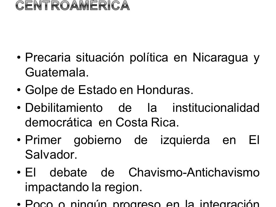 Situación política y democracia en Centroamérica