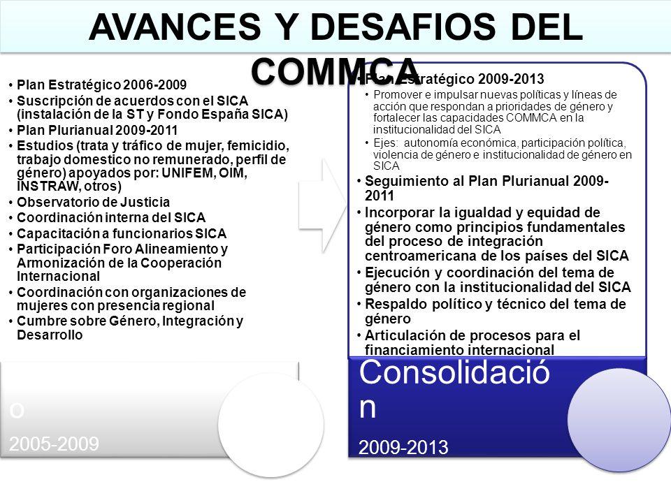 AVANCES Y DESAFIOS DEL COMMCA