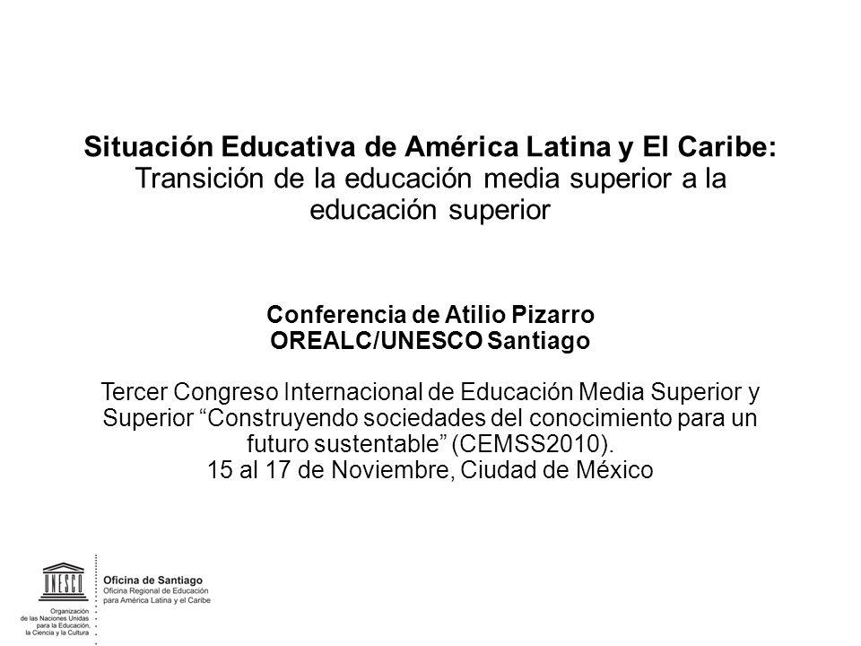Situación Educativa de América Latina y El Caribe: