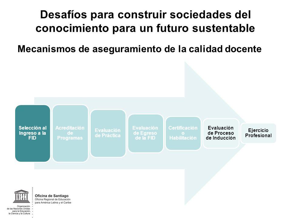 Desafíos para construir sociedades del conocimiento para un futuro sustentable