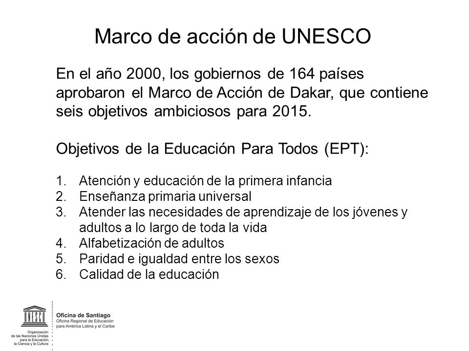 Marco de acción de UNESCO