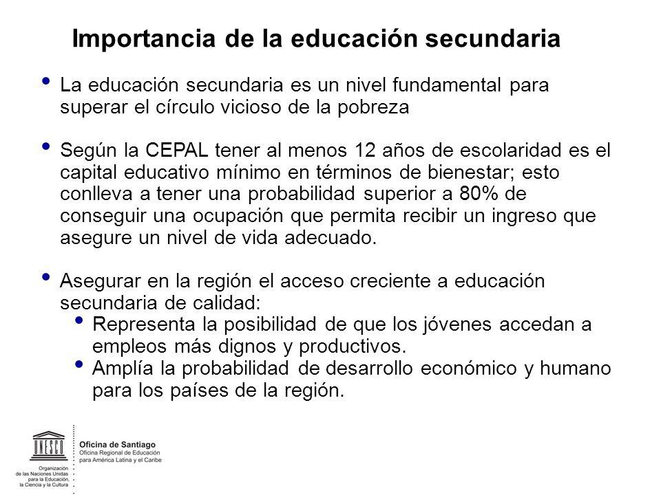 Importancia de la educación secundaria
