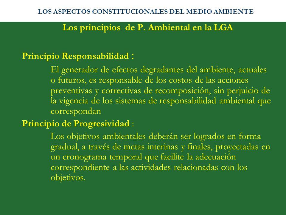 Los principios de P. Ambiental en la LGA