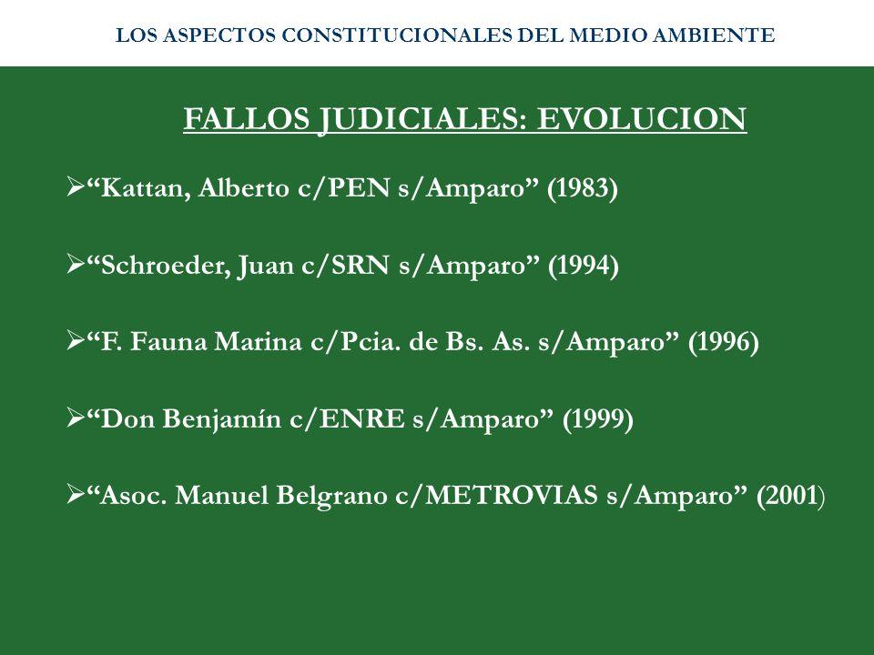 FALLOS JUDICIALES: EVOLUCION