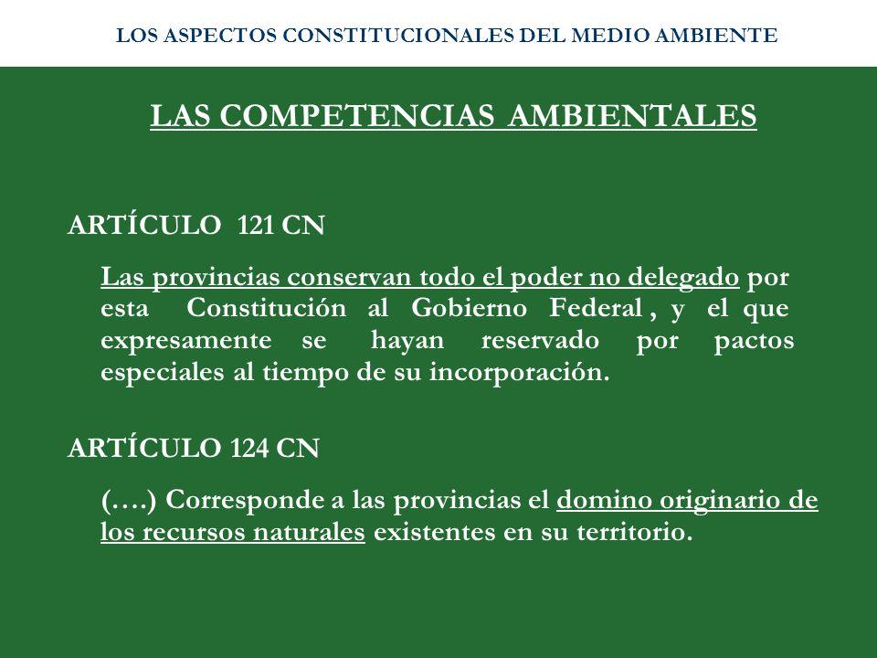 LAS COMPETENCIAS AMBIENTALES