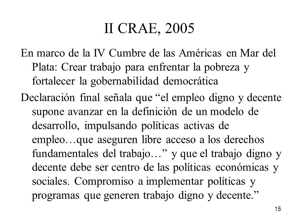 II CRAE, 2005